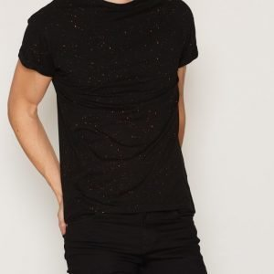 New Look Colour Spray Wash Tee T-paita Black