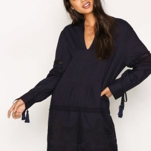 New Look Cotton Cutout Tunic Loose Fit Mekko Navy