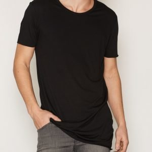 New Look Extreme Longline Tee T-paita Black