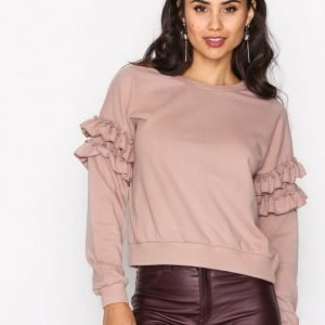 New Look Frill Sleeve Sweat Svetari Mink