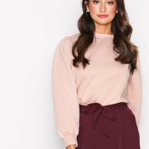 New Look Gathered Sleeve Sweater Svetari Light Beige