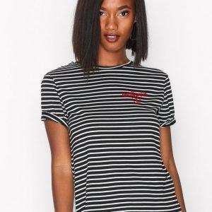 New Look Heartbreaker Stripe Tee T-Paita Black