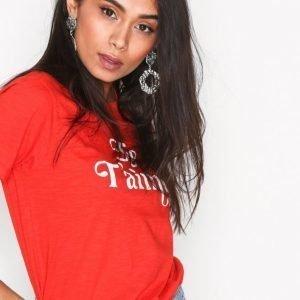 New Look Je T'aime Slogan T-Shirt T-Paita Red