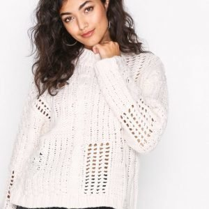 New Look Ladder Cable Knit Jumper Neulepusero Cream