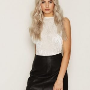 New Look Leather-Look Mini Skirt Minihame Black