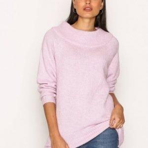 New Look Longline Bardot Jumper Neulepusero Pink