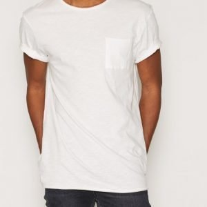 New Look Longline Slub T-paita Winter White
