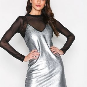 New Look Matte Sequin Slip Dress Kotelomekko Hopea