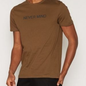 New Look Nevermind Tee T-paita Khaki