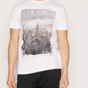 New Look New York Print Tee T-paita White