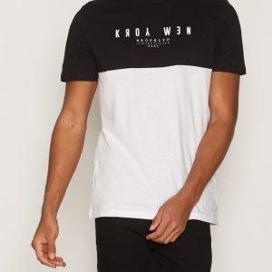 New Look Ny Blocked Tee T-paita Black