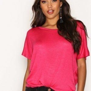 New Look Off The Shoulder T-Shirt T-Paita Deep Pink