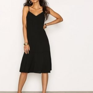 New Look Peplum Hem Midi Slip Dress Loose Fit Mekko Black