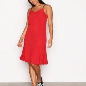New Look Peplum Hem Midi Slip Dress Loose Fit Mekko Red