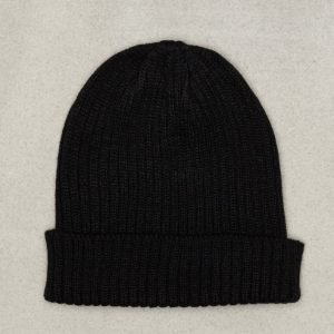 New Look Plain Rib Beanie Pipo Black