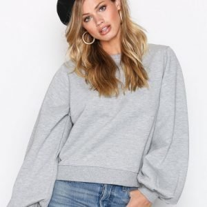 New Look Pleat Cuff Sweat Svetari Grey