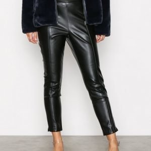 New Look Pu Slim Leg Trousers Housut Black