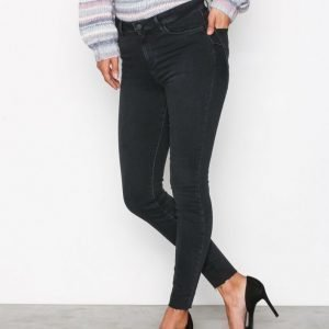 New Look Raw Hem Skinny Shape Jeans Farkut Black
