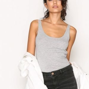New Look Scoop Neck Vest Toppi Grey