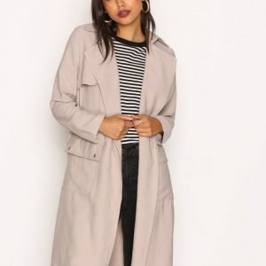 New Look Soft Belted Military Trench Coat Trenssitakki Stone