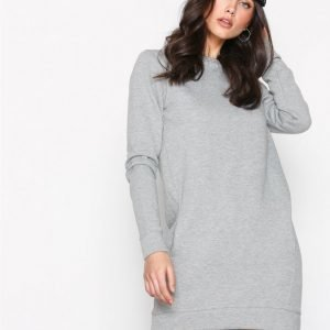 New Look Sweatshirt Dress Pitkähihainen Mekko Grey