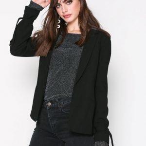 New Look Tie Sleeve Jacket Jakku Black