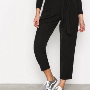 New Look Tie Waist Trousers Housut Black