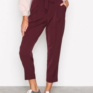 New Look Tie Waist Trousers Housut Wine