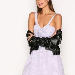 New Look Twist Front Dress Skater Mekko Purple