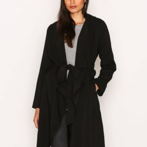 New Look Waterfall Belted Coat Trenssitakki Black