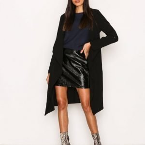 New Look Waterfall Duster Jacket Pitkä Takki Black