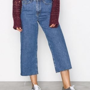 New Look Wide Leg Rip Jeans Straight Farkut Blue