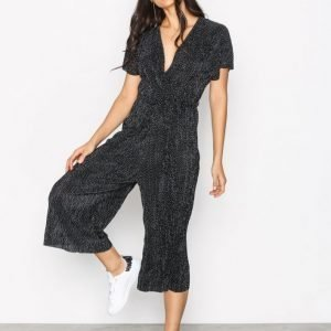 New Look Wrap Front Jumpsuit Black