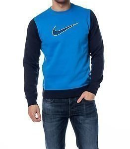 Nike Club FLC Crew Swoosh Blue