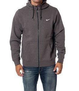 Nike Club FZ Hoody Swoosh Charcoal