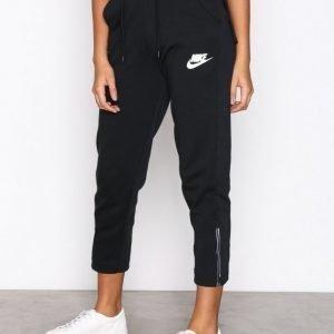Nike Nsw Av15 Pant Snkr Housut Musta / Valkoinen