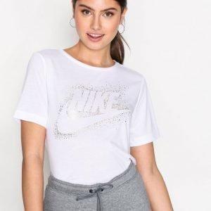 Nike Nsw Essntl Top Ss Metllic T-Paita Valkoinen