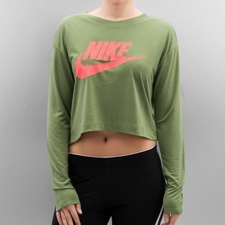 Nike Pitkähihainen Paita Vihreä