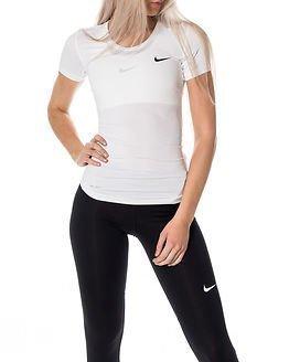 Nike Pro Cool Short Sleeve White