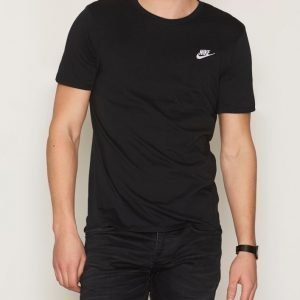 Nike Sportswear Tee Club Embroided T-Shirt T-paita Black/White