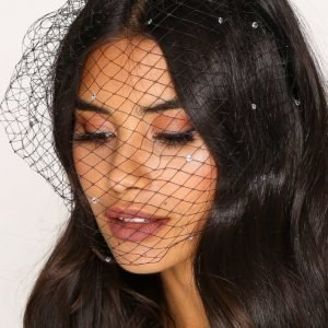Nly Accessories Fashion Veil Diadeemi Musta