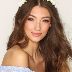 Nly Accessories Flower Crown Kukkaseppele Valkoinen