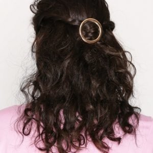 Nly Accessories Round Hairclip Hiussolki Kulta
