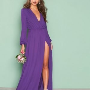 Nly Eve All Night Gown Maksimekko Violetti