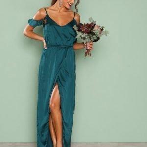 Nly Eve Cold Shoulder Gown Maksimekko Tummanvihreä