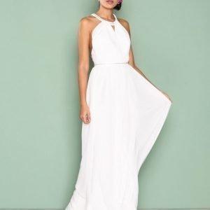 Nly Eve Crossed Back Goddess Gown Maksimekko Valkoinen