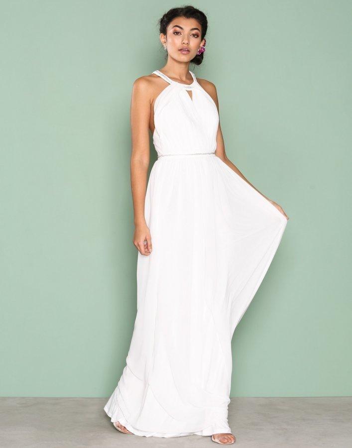 Nly Eve Crossed Back Goddess Gown Maksimekko Valkoinen ... b168233449