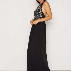Nly Eve Decor Open Back Dress Maksimekko Musta