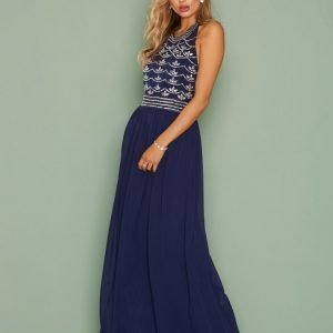 Nly Eve Decor Open Back Dress Maksimekko Navy