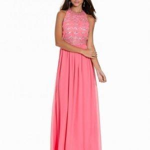 Nly Eve Decor Open Back Dress Maksimekko Vaaleanpunainen